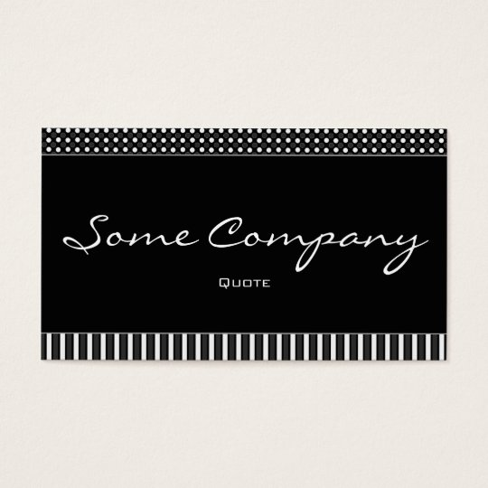 Simple Dots And Stripes (Black And White) Business Card