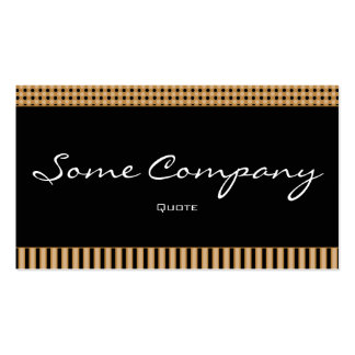 Simple Dots And Stripes (Hot Cocoa) Double-Sided Standard Business Cards (Pack Of 100)