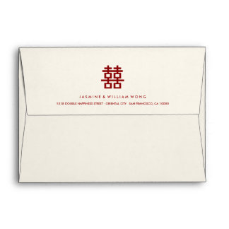 Simple Double Happiness Chinese Wedding Envelope