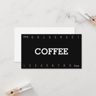 Numbered business cards templates zazzle simple double number loyalty coffee punch card colourmoves