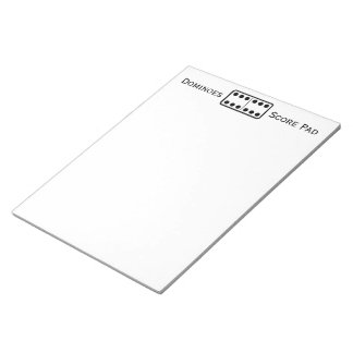 Simple Double Sixes Domino Game Score Pad White