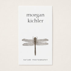 Simple Dragonfly Nature Professional White Business Card at Zazzle