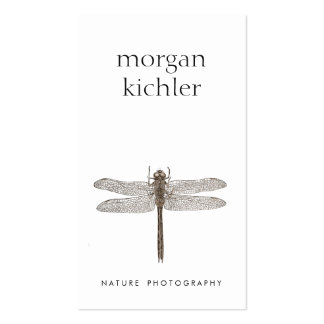 Simple Dragonfly Nature Professional White Double-Sided Standard Business Cards (Pack Of 100)