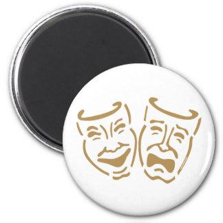 Simple Drama Masks 2 Inch Round Magnet