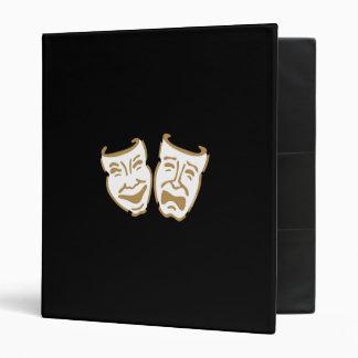 Simple Drama Masks 3 Ring Binders