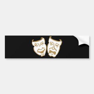 Simple Drama Masks Bumper Sticker