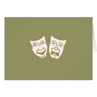 Simple Drama Masks Stationery Note Card