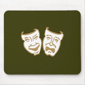 Simple Drama Masks Mouse Pad