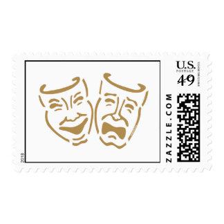 Simple Drama Masks Postage