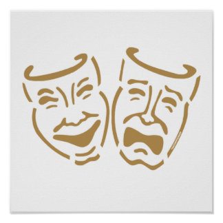 Simple Drama Masks Poster