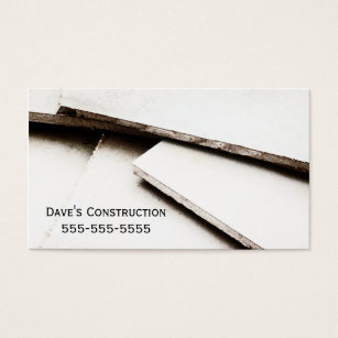 Plaster business cards templates zazzle simple drywall construction business card fbccfo Image collections