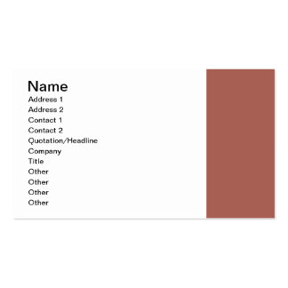 Simple Dusty Brown Border Business Cards