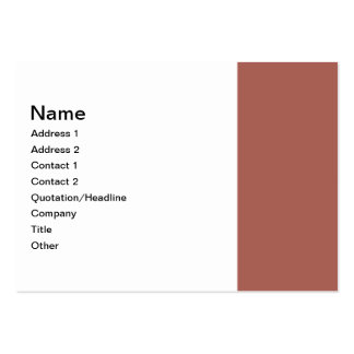 Simple Dusty Brown Border Business Card Templates