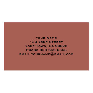 Simple Dusty Brown Business Card