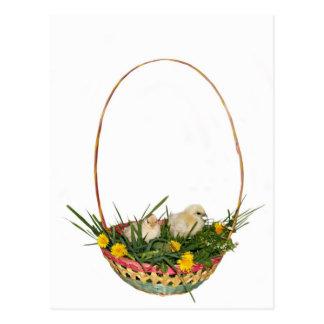 Simple Easter basket postcard
