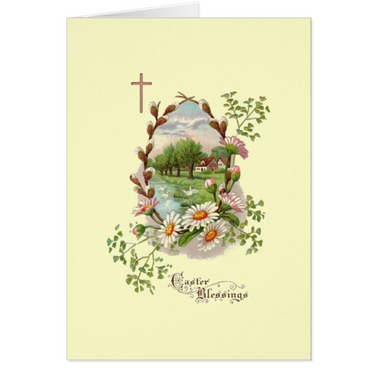 Simple Easter Blessings Card
