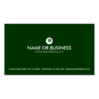 simple eightball business card templates