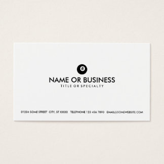 simple eightball business card