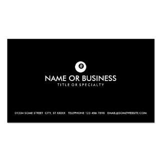 simple eightball business card