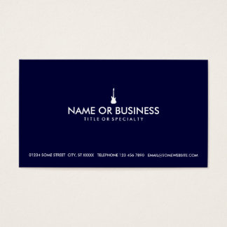 simple electric guitar business card