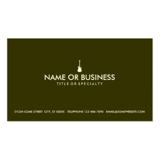 simple electric guitar business card templates
