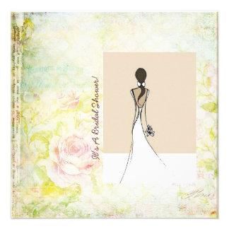 Simple Elegance bridal shower invitation