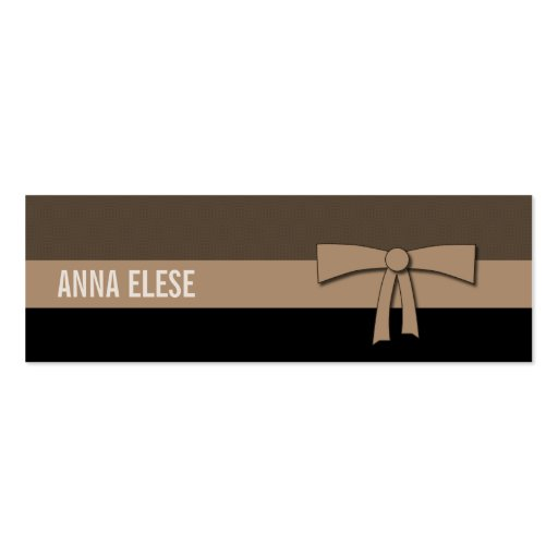 Simple Elegance Double-Sided Mini Business Cards (Pack Of 20)