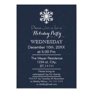 Simple Elegance Classy holiday party Invitation