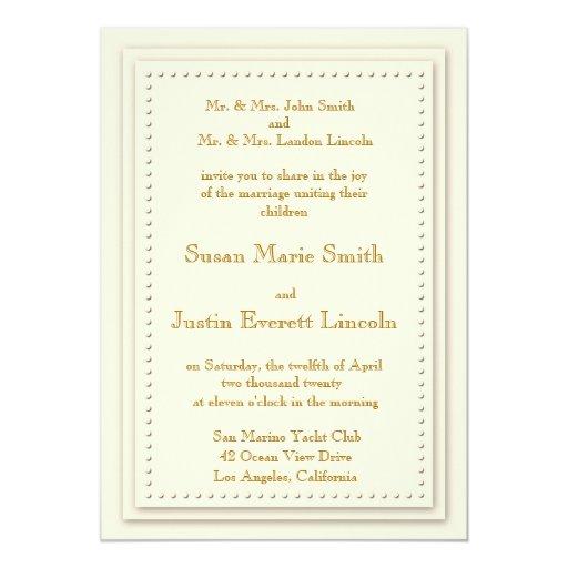 Simple Elegance Cream 5x7 Invitation