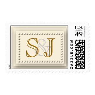 Simple Elegance Cream Postage Stamp