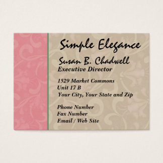 Simple Elegance Floral by SRF Business Card