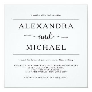 Simple Elegance | Minimal Black and White Wedding Invitation