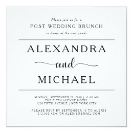 Exceptionnel Simple Elegance | Minimalist Post Wedding Brunch Card ...