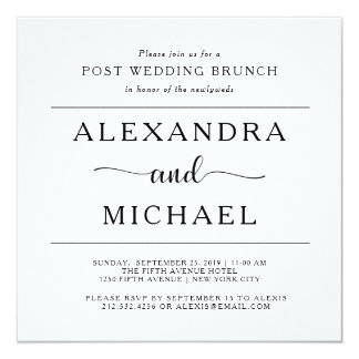 Post wedding brunch invitations announcements zazzle simple elegance minimalist post wedding brunch card stopboris Choice Image