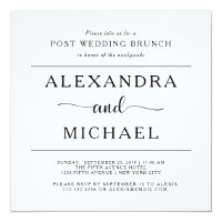Simple wedding invitations announcements zazzle simple elegance minimalist post wedding brunch stopboris