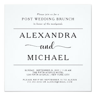 simple elegance minimalist post wedding brunch invitation