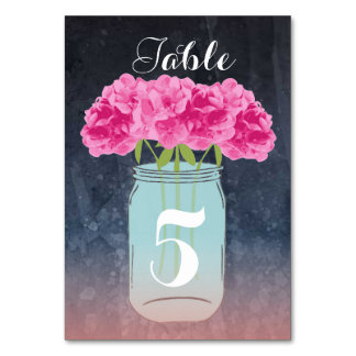 Simple Elegance Outdoor Event Table Card