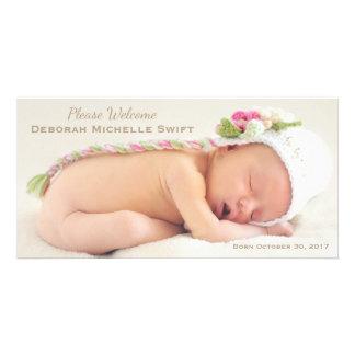 Simple Elegance Photo Birth Announcement