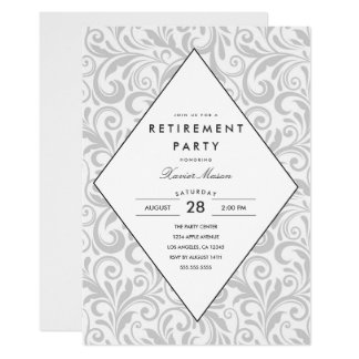 Simple Elegance | Retirement Party Invitation