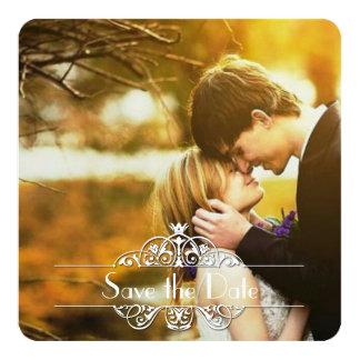 "Simple Elegance Save the Date 5.25"" Square Invitation Card"