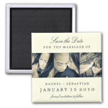SIMPLE ELEGANCE SAVE THE DATE MAGNET