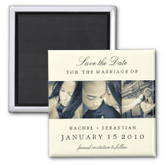 Simple Elegance Save The Date Magnet at Zazzle