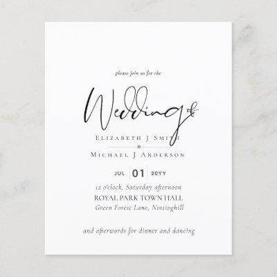Simple Elegance Script Modern Wedding