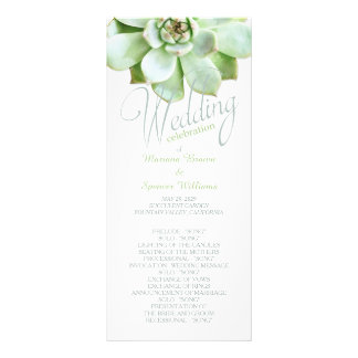 Simple Elegance Succulent Wedding Program