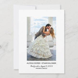 Simple Elegance Wedding Announcement Photo
