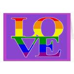 Simple Elegant and Beautiful Gay Pride Valentines Card