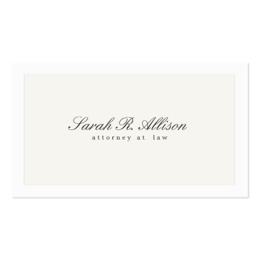 Simple Elegant Attorney Professional Business Card Templates