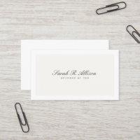 Simple Elegant Attorney Professional Cream Business Card
