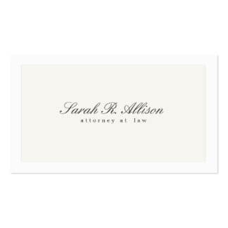 Simple Elegant Attorney Professional Double-Sided Standard Business Cards (Pack Of 100)