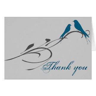 Simple Elegant Birds Swirl Welcome Card